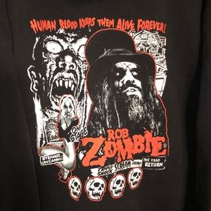 Shirts - Rob Zombie Men's Hoodie Concert Tour XL Used